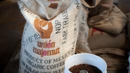 멕시코 유기농 커피(Organic Coffee)가 로스팅을 거친 모습