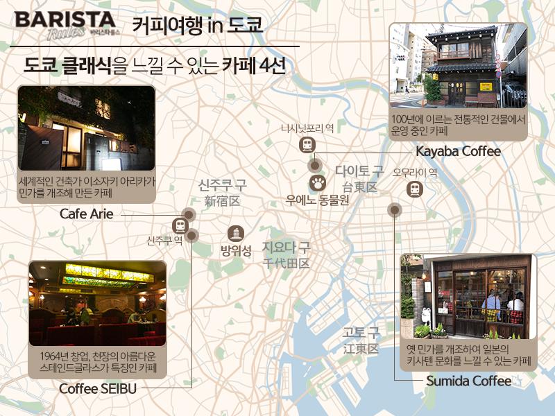 도쿄 카페 지도
