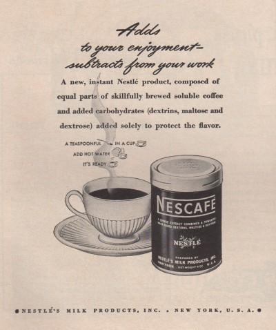 네슬레 커피 광고